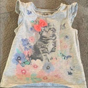 2T kitty cat shirt